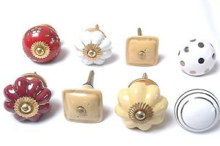 Mixed Shabby Chic Vintage Style Ceramic Cupboard Knobs Drawer