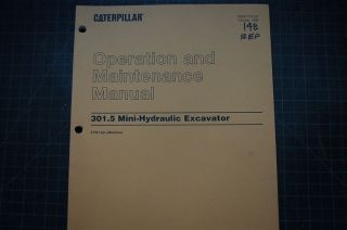 301.5 MINI Excavator Operation Operator Maintenance Manual omm
