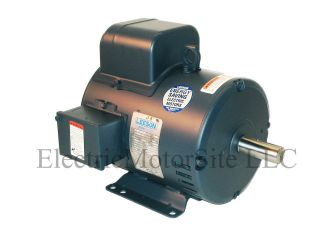 Leeson 131622 5 HP 1740 RPM 230V 1 Phase Air Compressor Electric Motor