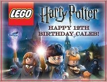 Harry Potter Lego #3 Edible CAKE Icing Image topper frosting birthday
