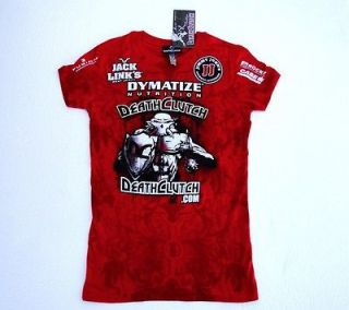 DEATHCLUTCH UFC RED 116 BROCK LESNAR SPONSORS WALKOUT TEE WOMENS SIZE