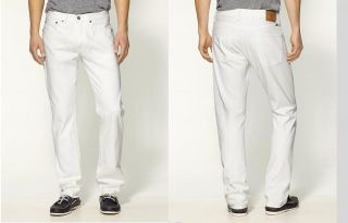 Lucky Brand Mens 7M20336 HERITAGE 121 Slim Fit White jeans 32 33 36