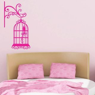 BIRD CAGE WALL MOUNTED WALL ART STICKER, WALL MURAL, WALL DECAL, DIY