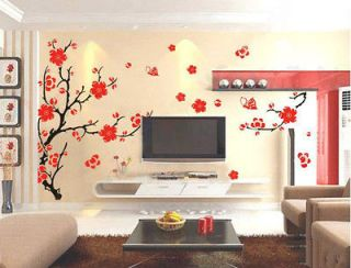 Charming Plum Blossom Flower Removable Wall Sticker Decor Decal Room
