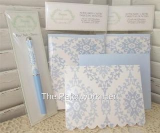 8ct pkgs Shabby Chic Rachel Ashwell Note Cards, Glitter Accent