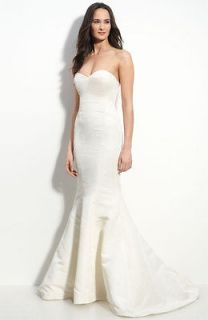 NICOLE MILLER FAILLE TRUMPET BRIDAL WEDDING DRESS 8 $1035 EO0009