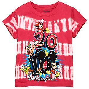 NEW 2010 Walt Disney World Resort Tie Dye Kids Childs Girls Tee Shirt