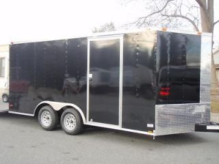 New 8.5x16 Enclosed Trailer Cargo V Nose Utility Motorcycle Landscape