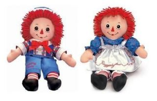 dolls raggedy ann and andy 12 by russ berrie