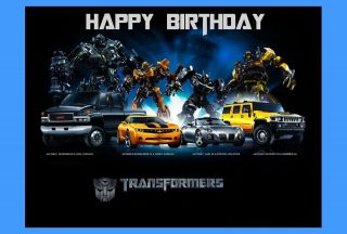 transformers edible cake image topper 1 4 sheet one day