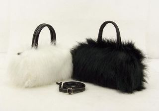 Winter Elegant Lady women Girl faux fur handbag shoulder bag Cute bag