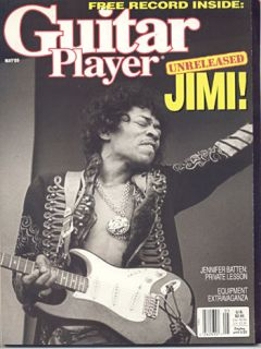 JIMI HENDRIX Guitar Player Magazine 5/1989 RED HOUSE Flexi DISC