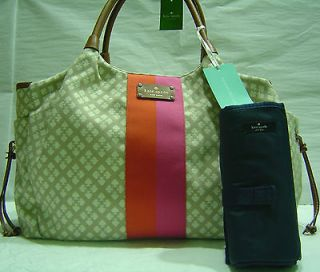 NWT Classic Kate Spade Stevie BABY Diaper Bag Stucco WKRU1523/$398