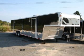 5x44 gooseneck enclosed trailer cargo auto hauler racing car