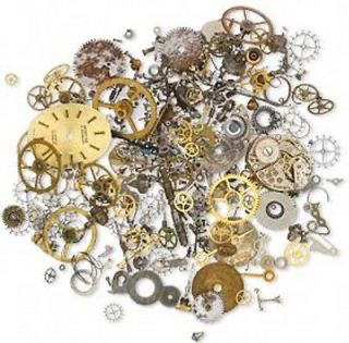Wholesale Lot Steampunk Random Watch Parts Pieces Altered Art Gears