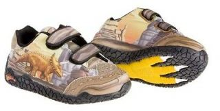 Kids Dinosaur Shoes Dinorama Triceratops w/Lights Tddlr Sz 5 Dinosoles