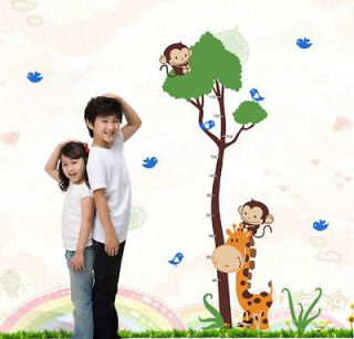 Newly listed Giraffe Monkey Tree Height Chart Wall Decal Decor