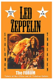 Robert Plant, Jimmy Page Led Zeppelin at The Forum Los Angeles Poster