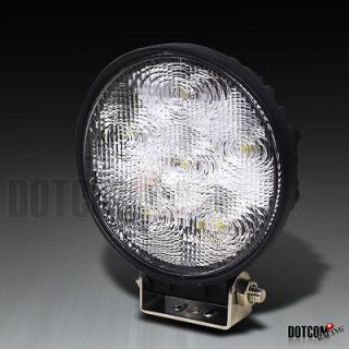 1X 18W 4.5 ROUND 6 LED WORK LIGHT+SWITCH FLOOD BEAM 4X4 OFFROAD TRUCK