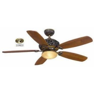 Hampton Bay Caffe Patina Avorio 52 inch Ceiling Fan w/ Light Kit