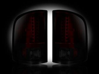 chevy gmc recon red smoked led tail lights 07 11