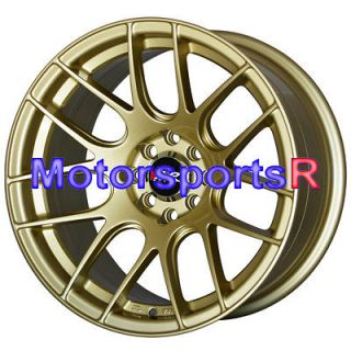 530 Gold Concave Rims Wheels Stance 4x100 98 Honda Civic Hatch SI EX