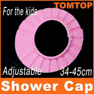 Baby Kids Children Shampoo Bath Shower Cap Hat Wash Hair Shield Pink