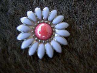 FLORAL PINK WHITE CONCHOS HORSE SADDLE HEADSTALL TACK BRIDLE SILVER