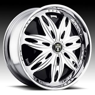 26 dub ravenous spinner chrome wheel set