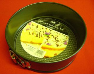 new springform round cake tin pan non stick easy baking 18cms 7inches