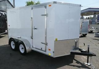 LOOK 2013 Enclosed Trailer 7x12 Tandem Axle Cargo Utility Hauler