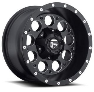 15 FUEL REVOLVER BLACK RIMS & TOYO 33X12.50X15LT OPEN COUNTRY MT