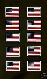 10 NCAA USA American Flag Helmet Decals W/Boarder.