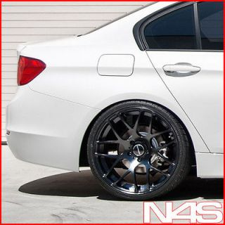19 BMW E90 M3 AVANT GARDE M310 CONCAVE BLACK STAGGERED WHEELS RIMS