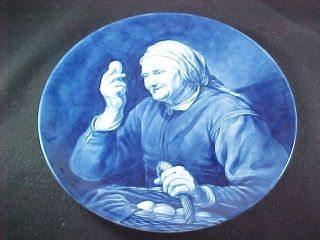 royal delft porceleyne fles wall plate egg seller time left