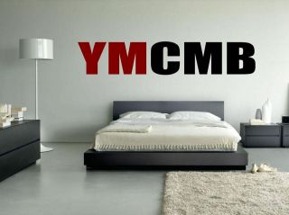 Red and Black YMCMB lil wayne,drake, hiphop wall vinyl decal/sticker