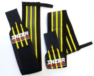 Gripper Wrist Wraps (Pair) 20 Powerlifting Weight Lifting Bench Press