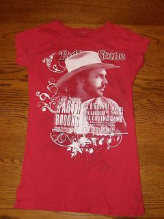 red white rolling stone garth brooks t shirt size small