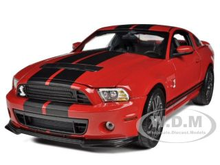 2013 Ford Shelby Mustang GT500 SVT Cobra Red Blk 1 18 Shelby
