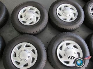 Ford E350 Van Factory 16 Steel Wheels Tires 245 75 16 E 3035