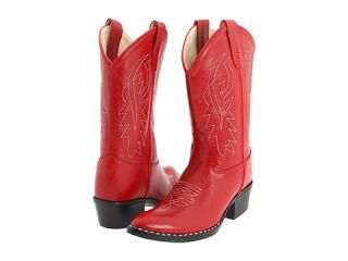 Old West Kids Boots J Toe Western Boot (Toddler/Youth) Red