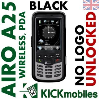 BNIB Airo Wireless A25 Black PDA Rugged Unlocked Phone