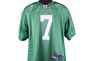Michael Vick Triple Inscribed Autographed Philadelphia Eagles Jersey