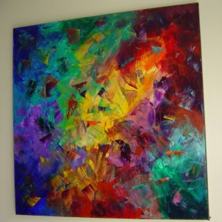 ABSTRACT MODERN OIL KNIFE PAINTING WALL DECOR Eugenia Abramson
