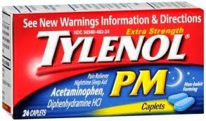 Tylenol PM 24 Caplets Acetaminophen Extra Strength Pain Reliever Sleep