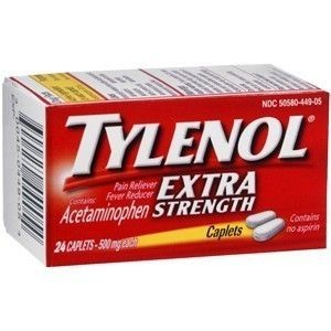 TYLENOL EXTRA STRENGTH . . . 50 CAPLETS . . . EXPIRES 8/2014
