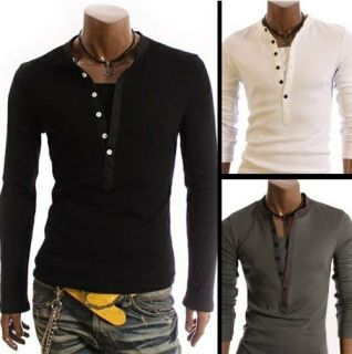Stylish Casual Formal Stretch Slim Fit Shirt Active Jumper HS