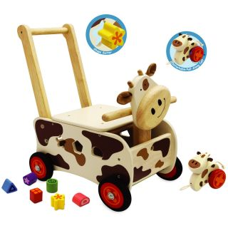 Walker Rider Shape Sorting Cow Baby Activity Walking Toy Gift