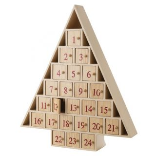New Christmas Tree Shaped Advent Countdown Calendar