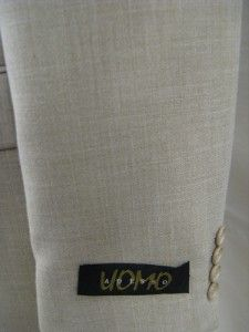 New Adesso Uomo Mens Beige Plaid Poly Rayon 3 Button Blazer